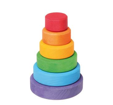 WYPRZEDAŻ Mała tęczowa wieża, 1+, Grimm's Grimms - Zabawka drewniana - Montessori