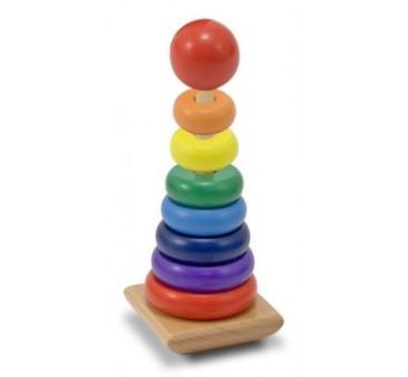 Drewniana Piramida/Wieża do Układania - Melissa & Doug - Montessori