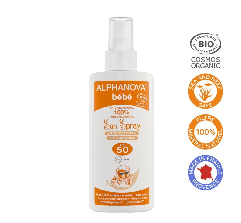 Przeciwsłoneczny Spray o wysokim filtrze SPF 50+ - 50ml - Alphanova Bebe