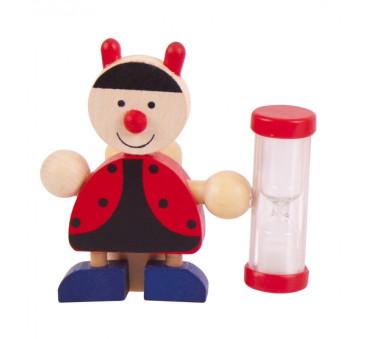 Drewniany Minutnik/Klepsydra do Mycia Ząbków - Biedronka- Bigjigs Toys - Montessori