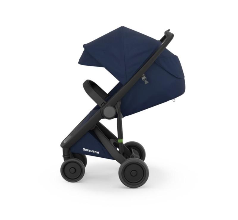 Wózek Greentom Upp Classic - black - blue / czarno - granatowy