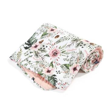 Narzutka Przedszkolaka - Wild Blossom - Powder Pink - La Millou - Velvet Collection