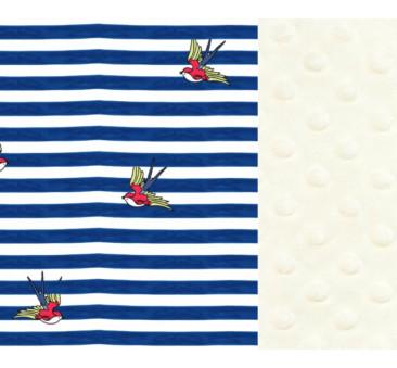 Kura Babci Dany - Ecru - Barber Sailor Strips - La Millou
