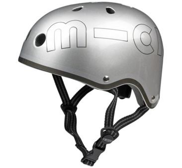 Kask metalik srebrny M(53-58 cm) - Micro