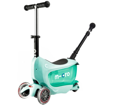 Jeździk Mini 2go Deluxe Plus Mint/Miętowy - Micro hulajnoga 5w1