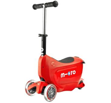 Jeździk Mini 2go Deluxe Plus Red/Czerwony - Micro hulajnoga 5w1
