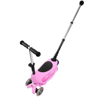 Jeździk Mini 2go Deluxe Plus Pink/Różowy - Micro hulajnoga 5w1