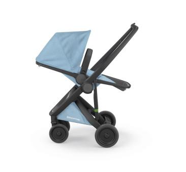 Wózek Greentom Upp Reversible - black - sky / czarno - błękitny - edycja limitowana 2018