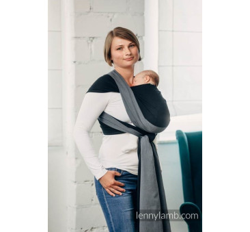 Moja pierwsza chusta do noszenia dzieci - OBSYDIAN, tkana splotem skośno - krzyżowym - Rozmiar L (5,2 metra) - LennyLamb
