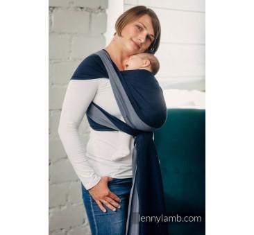 Moja pierwsza chusta do noszenia dzieci - AZURYT, tkana splotem skośno - krzyżowym - Rozmiar L (5,2 metra) - LennyLamb