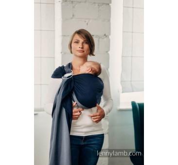 AZURYT - Moja pierwsza chusta kółkowa do noszenia dzieci - tkana splotem skośno - krzyżowym - bawełniana - ramię bez zakładek