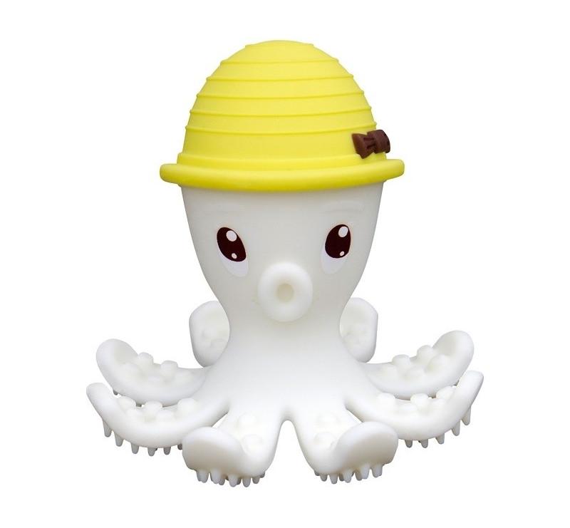 Gryzak Zabawka - Ośmiornica Lemon - żółta - Mombella