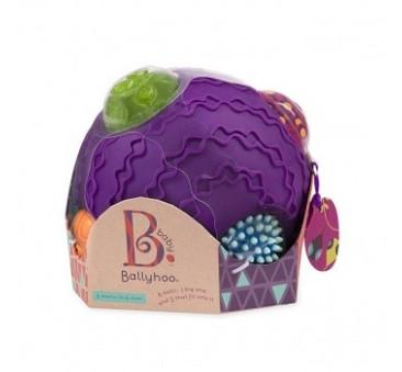 Kula sensoryczna z piłkami - Ballyhoo - Wersja Fioletowa - BTOYS
