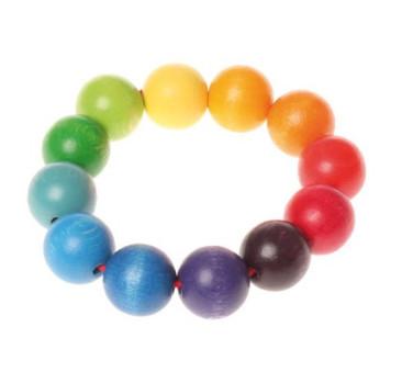 Kolorowe Perełki na Raczkę 0+ - Grimm's Grimms - Zabawka drewniana - Montessori