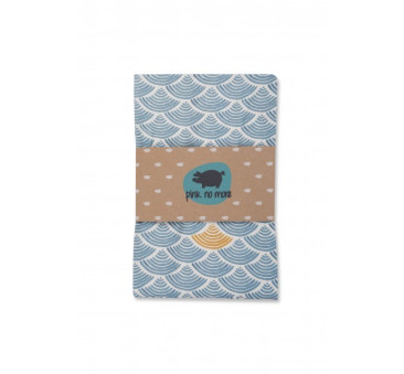 Otulacz bambusowy - Blue Ocean - 120 x 120 cm - Pink No More