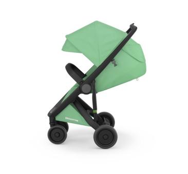 Wózek Greentom Upp Classic - black - mint / czarno - miętowy