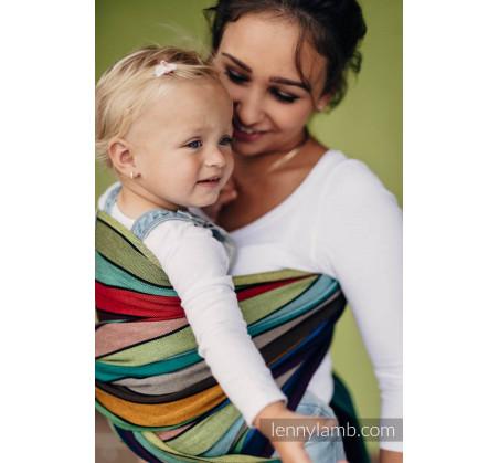 Chusta do noszenia dzieci - KARUZELA BARW - tkana splotem skośno-krzyżowym - Rozmiar L (5,2 metra) - LennyLamb