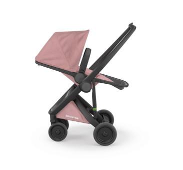 Wózek Greentom Upp Reversible - black - rose / czarno - pudrowy róż - edycja limitowana 2017