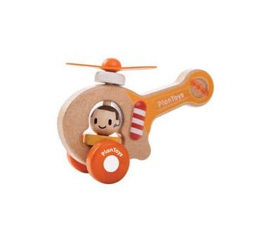 Drewniany helikopter strażacki - Plan Toys - Montessori