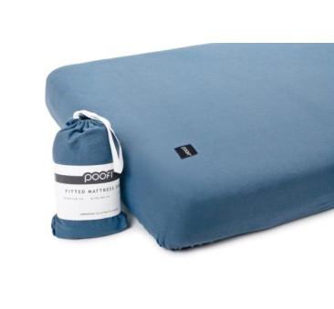 Prześcieradło do łóżeczka Organic & Color - denimowy - 60x120 cm - Poofi