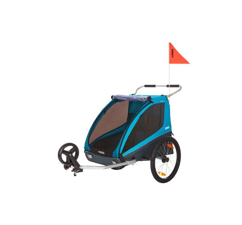 Przyczepka rowerowa dla dziecka, podwójna - Coaster XT - niebieska - Thule