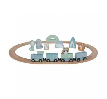 Pociąg z torami Błękitny - Little Dutch