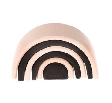 Mały 6-elementowy czarno-biały tunel, kolekcja naturalna, 0+ - Grimm's Grimms - Zabawka drewniana - Montessori