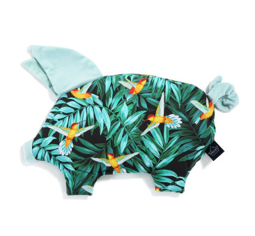 Podusia Sleepy Pig - Colibri - Audrey Mint - La Millou - Velvet Collection