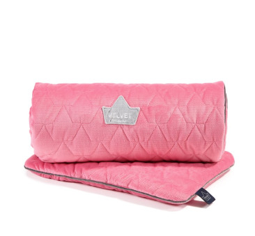 Set Blanket & Mid Pillow - Florida Pink - La Millou - Velvet Collection
