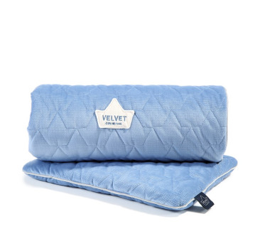 Set Blanket & Mid Pillow - Dove Blue - La Millou - Velvet Collection