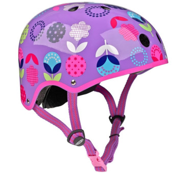 Kask Floral Dot Fiolet M(53-58 cm) - Micro
