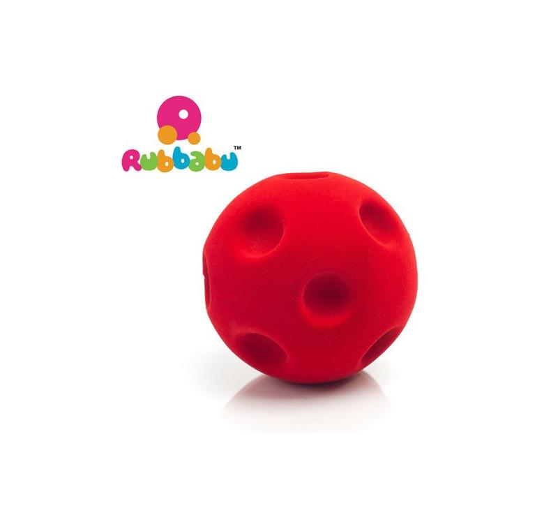 Sensoryczna piłka kratery - Czerwona - Rubbabu