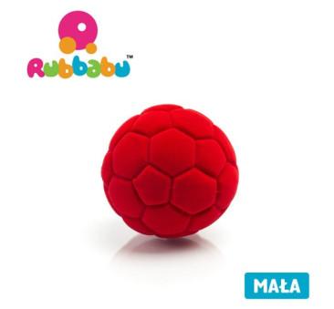 Mała sensoryczna piłka futbolowa - czerwona - Rubbabu
