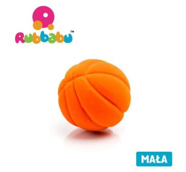 Mała sensoryczna piłka koszykówka - pomarańczowa - Rubbabu
