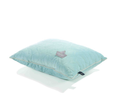 Poduszka - Big Pillow - Audrey Mint & Grey - 40x50 cm - La Millou - Velvet Collection
