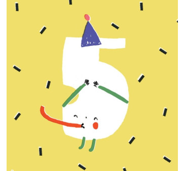 Kartka Urodzinowa - Happy Birthday 5 - Pieskot