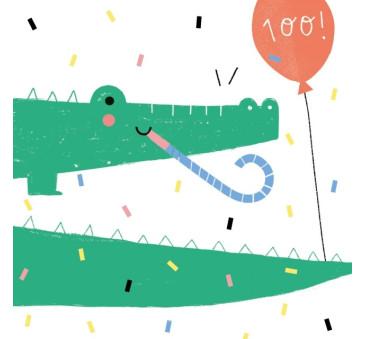 Kartka Urodzinowa - Happy Crocodile - Szczęsliwy Krokodyl - Pieskot