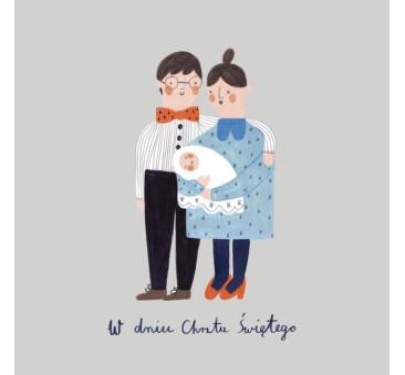 Kartka Chrzest Święty - Holy Family - Pieskot