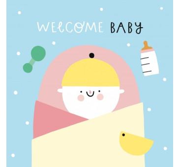 Kartka Narodziny Dziewczynka - New Arrival Girl - Pieskot