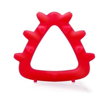 Gryzak Geometryczny Jeż - Czerwony - Mombella
