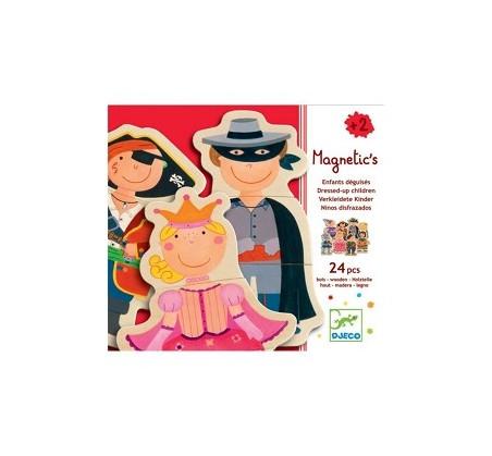 Drewniane puzzle magnetyczne - Postacie - Djeco