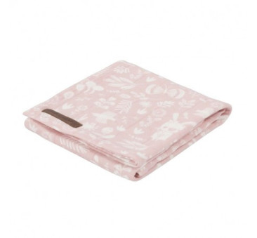 Otulacz - Adventure Pink - 120x120 cm - Little Dutch
