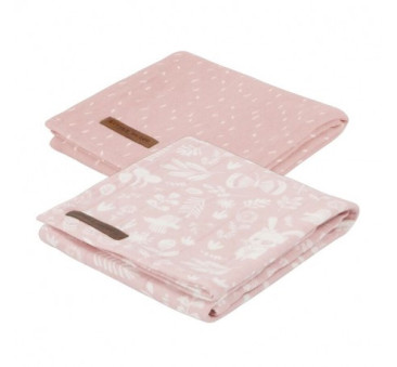 Otulacze dwupak - Adventure Pink - 70x70 cm - Little Dutch