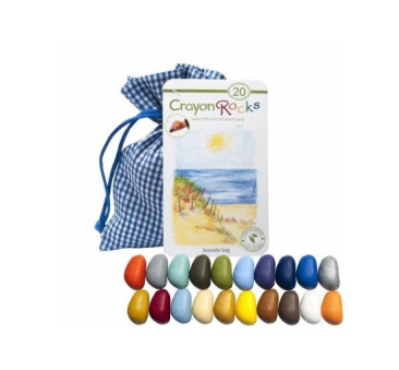 Crayon Rocks - Seaside- kredki stożkowe kamyki - 20 sztuk w woreczku