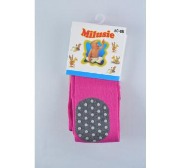 Rajstopy bawełniane ABS kolanka - różowe - rozmiar 68/74 - Milusie