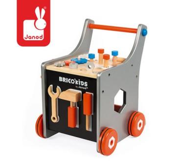 Wózek warsztat magnetyczny z narzędziami Brico 'Kids - Janod - Montessori