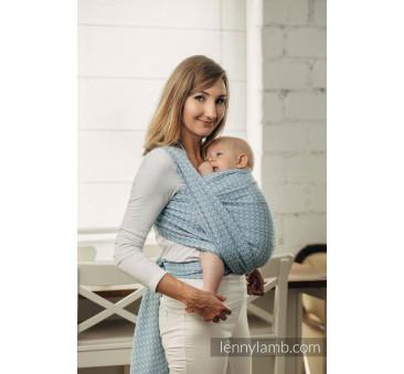 Moja druga chusta do noszenia dzieci - LITTLE LOVE-SKY BLUE , splot żakardowy - Rozmiar M (4,6 metra) - LennyLamb