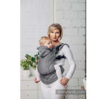Moje drugie nosidełko ergonomiczne - GRAFIT, splot jodełkowy ,Toddler size, Druga Generacja - LennyLamb