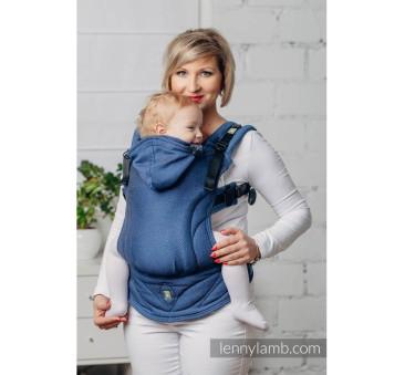 Moje drugie nosidełko ergonomiczne - KOBALT, splot jodełkowy , Toddler size, Druga Generacja - LennyLamb