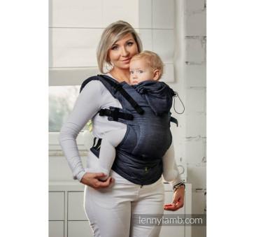 Moje drugie nosidełko ergonomiczne - JEANS, splot satynowy , Toddler size, Druga Generacja - LennyLamb